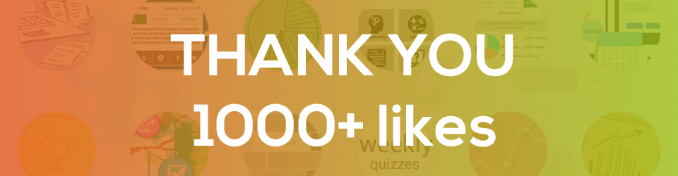 Thank you - 1000+ likes on facebook