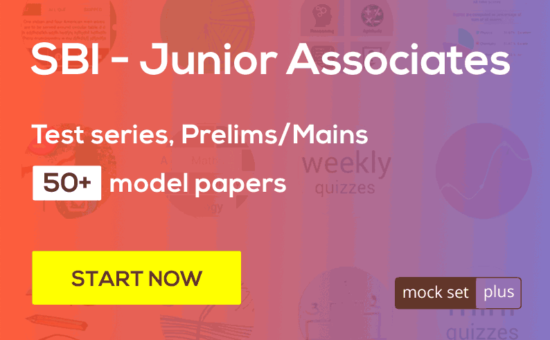 SBI - Junior Associates, Test series for Prelims & Mains