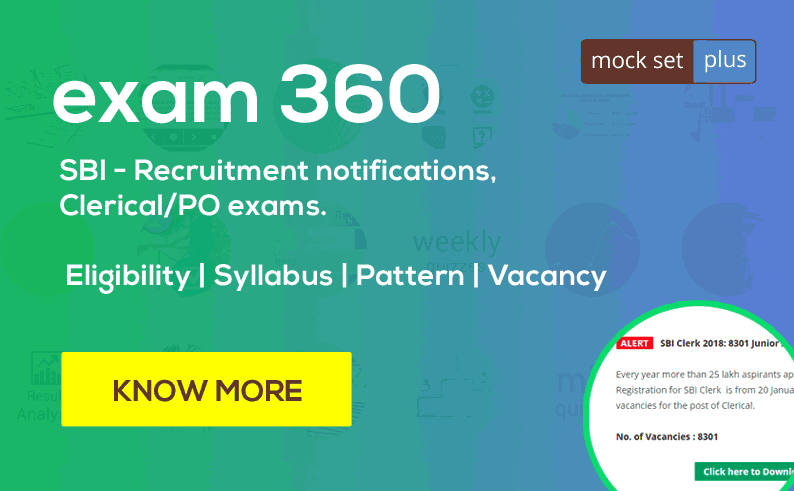 SBI - Recruitment Notifications, Clerical/PO Exams